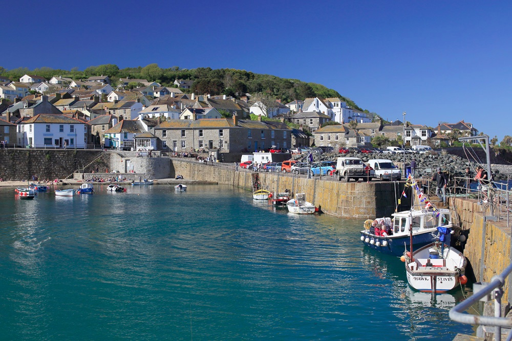 Mousehole harbour, Cornwall.
