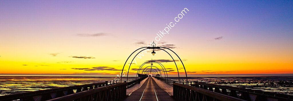 """Sunset, Southport Pier #1"""