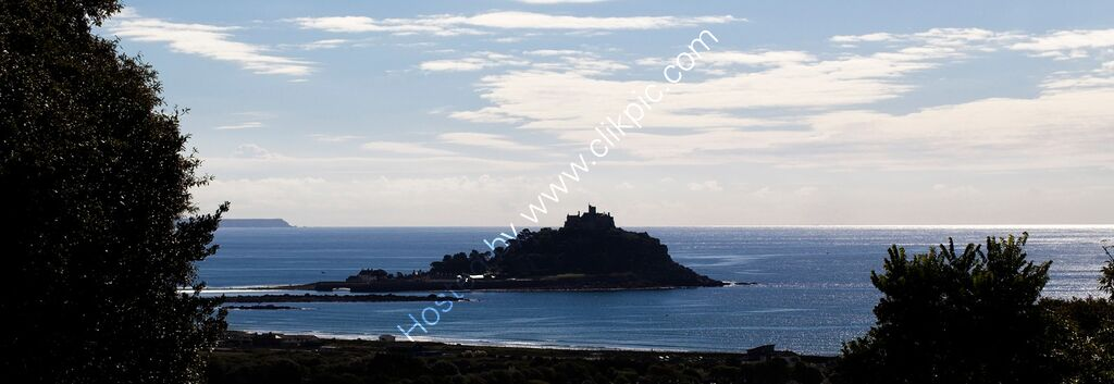 """St Michaels Mount, in black and blue"""