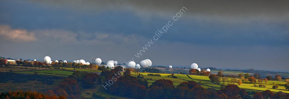 """""""Dark clouds over RAF Fylingdales, Yorkshire"""""""