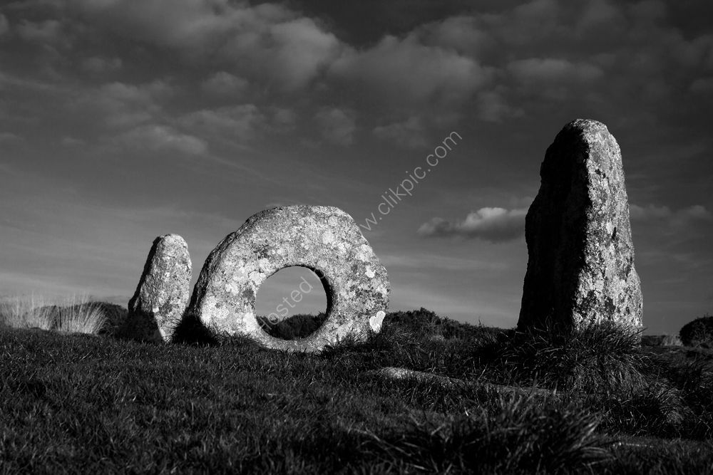 Men-an-Tol, ancient monument in west Cornwall.