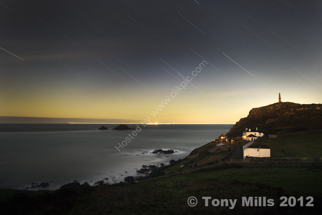 Moonlight - Cape Cornwall. Limited Edition Glicée print.
