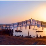 44.Washing line along the river Ganges at sunrise.Costa Club Nerja