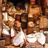 Eleanor Smith Man in shop in Jaisalmer