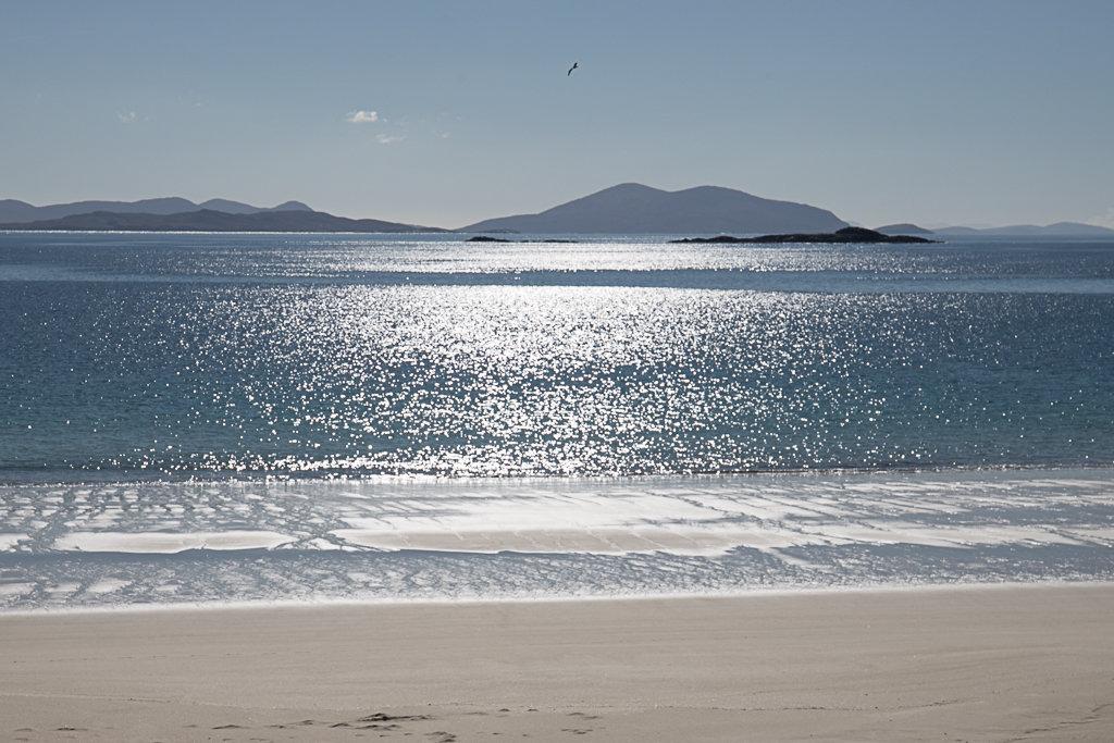 Beach scene, Isle of Harris, Scotland, water, sea,