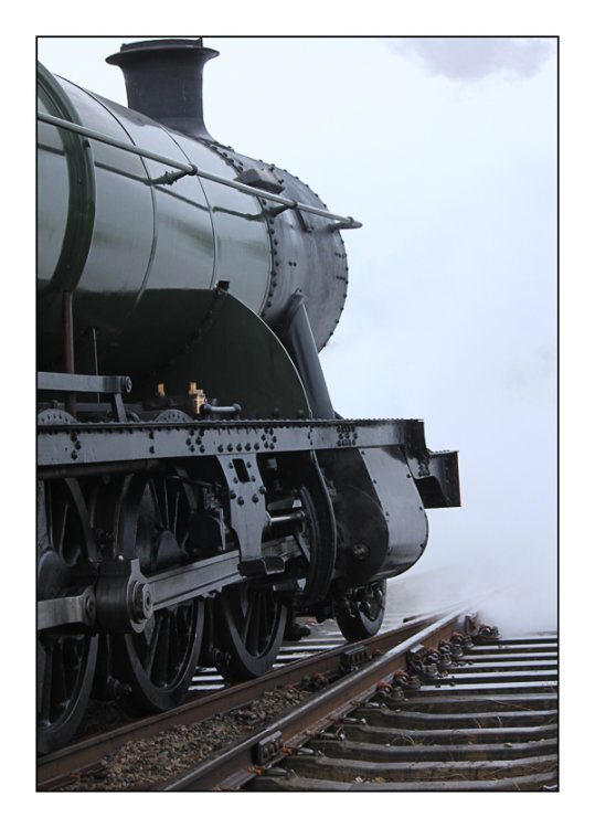Steam train and steam,