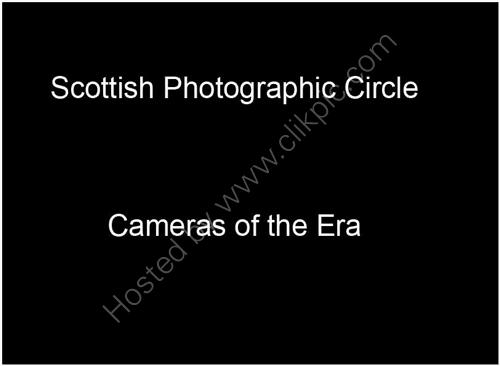 Cameras of the Era