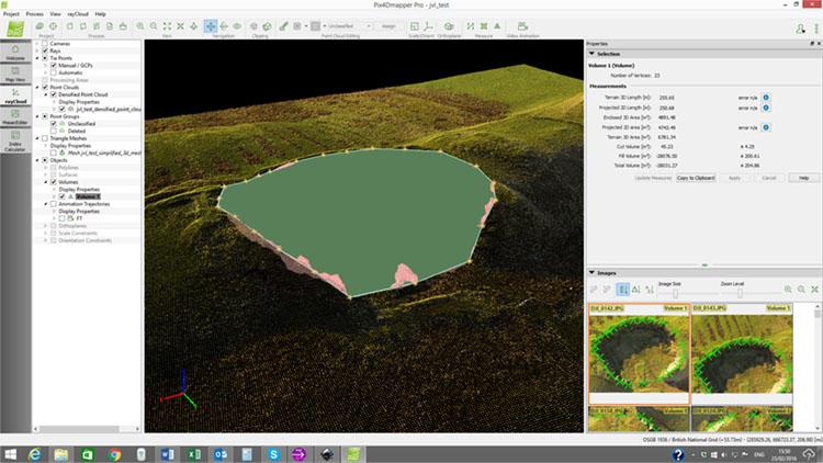 drone volumetric analysis