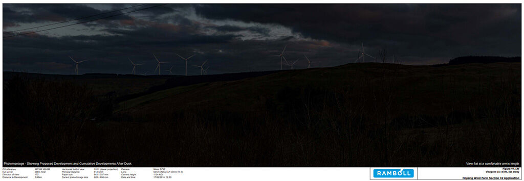 Wind Farm Night Time Photography