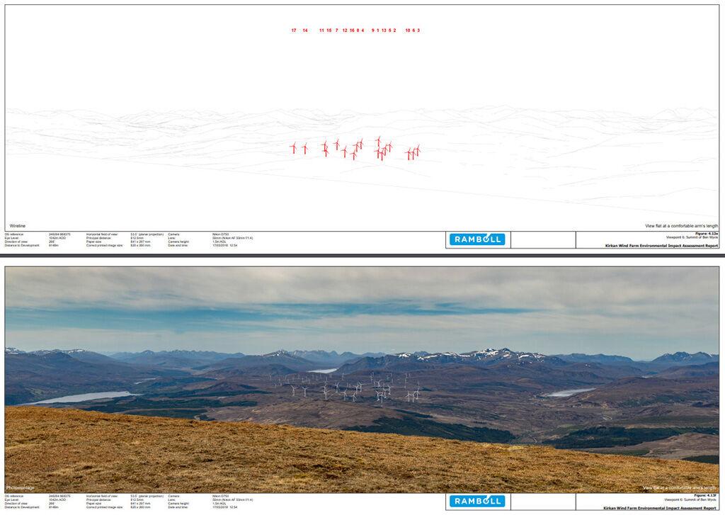 wind farm photomontage