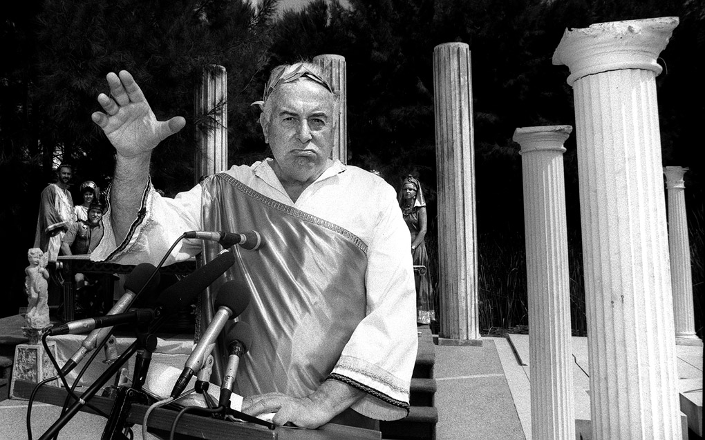 PM Gough Whitlam in Roman garb, National Gallery of Australia