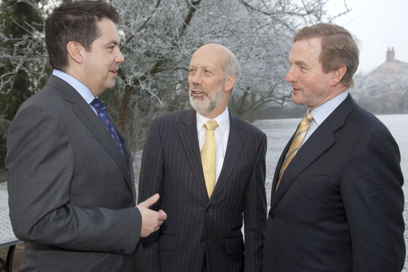 Glyn Roberts, David Ford, with Enda Kenny 2011