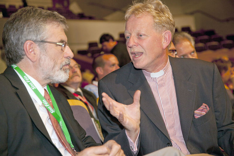 Gerry Adams with David Latimer 2011