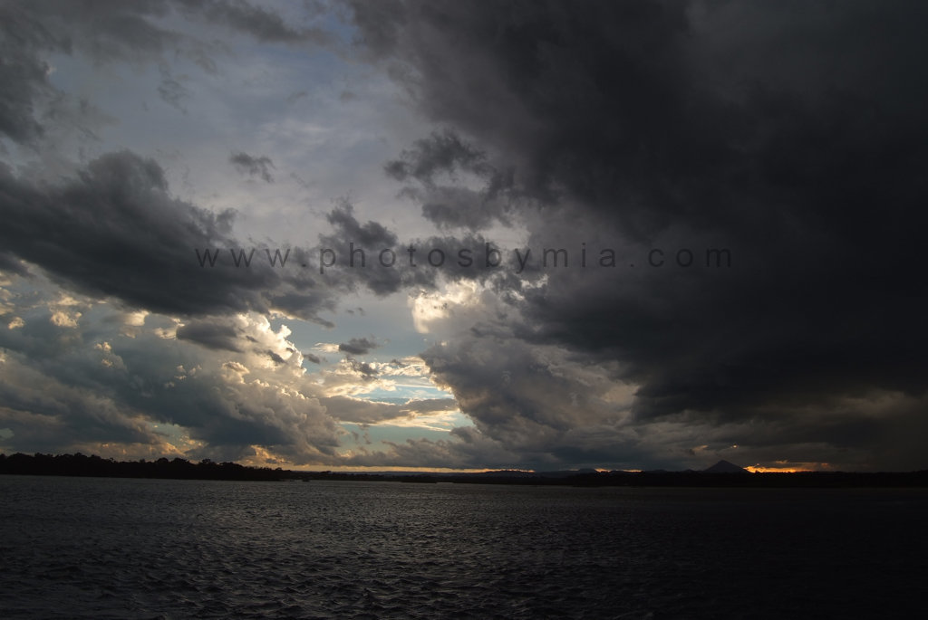 Storm Clouds over the river