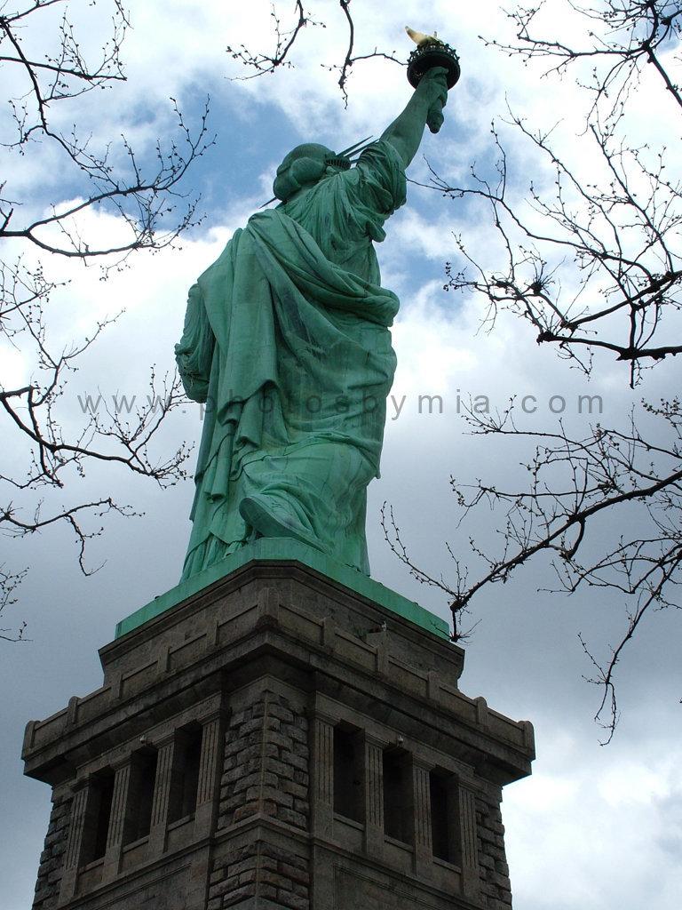 A watchful Lady Liberty