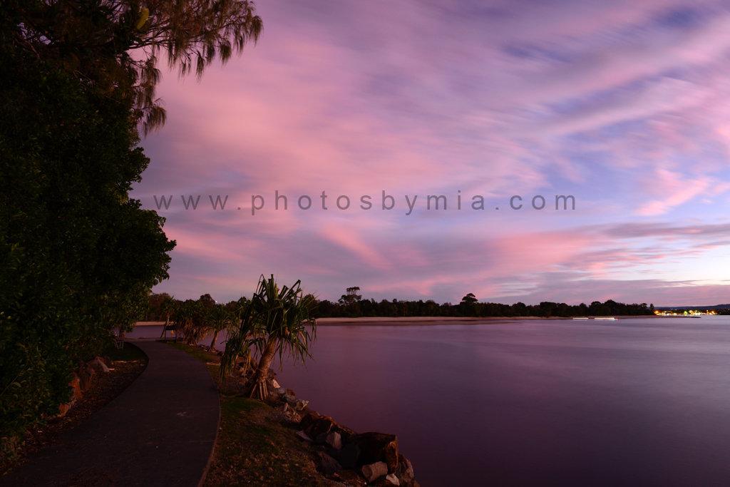 Pink River Sunset