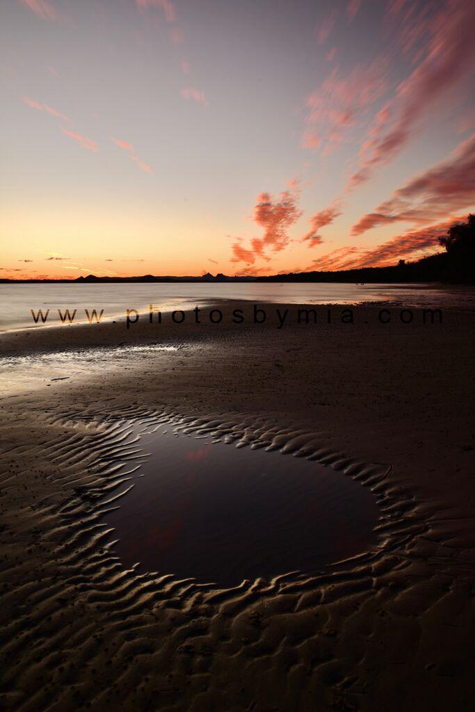Puddle Sunset