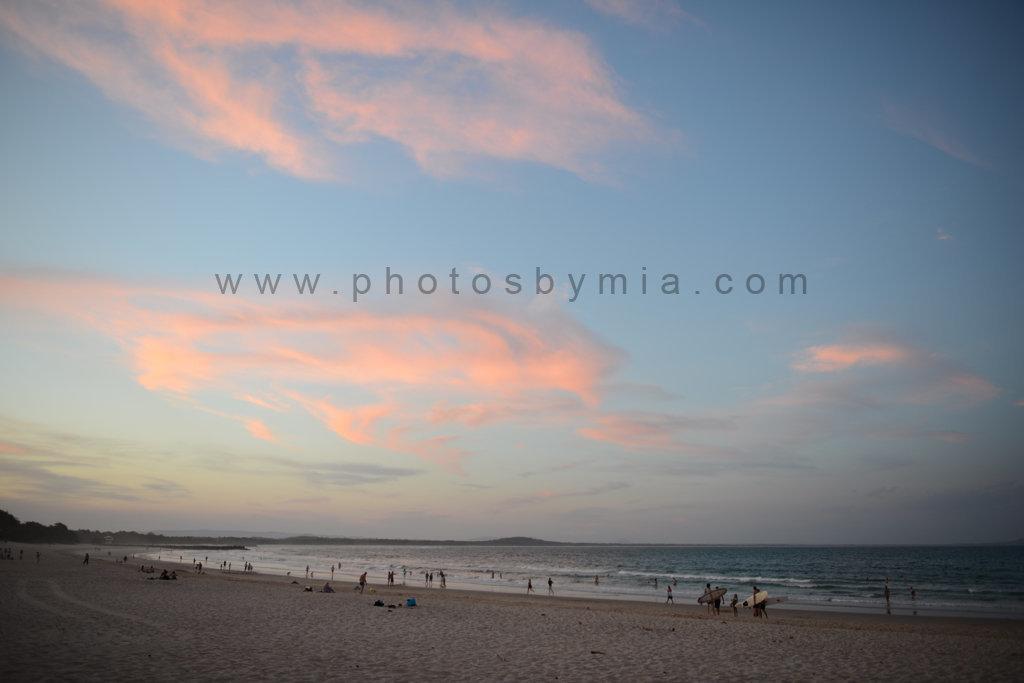 Sunset over Main Beach