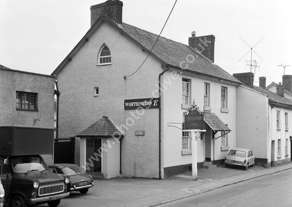 Crediton Inn, Mill Street, Crediton EX17 1EZ around 1974