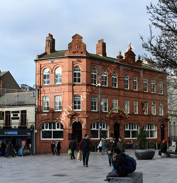 Duke of Wellington a Brains pub in central Cardiff in December 2018
