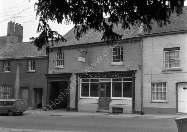 Duke Of York, High Street, Crediton EX17 3JX around 1974.