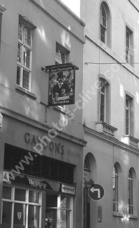 Gaydons pub sign 2 Cross Street, Barnstaple, Devon EX31 1BA around 1973-4.