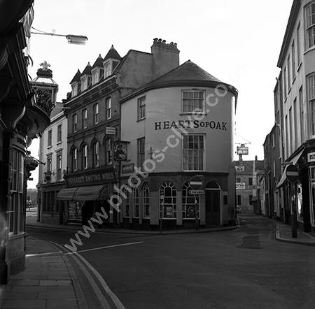 Hearts Of Oak Pub, 70 Boutport Street, Barnstaple, Devon EX31 1HG in around 1973-4