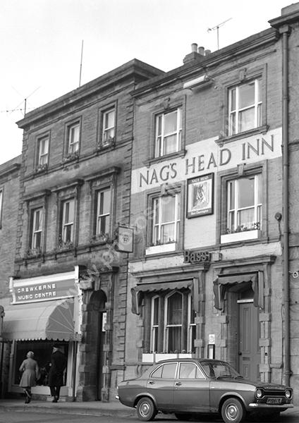 Nag's Head Inn, Market Square, Crewkerne TA18 7LE around 1973
