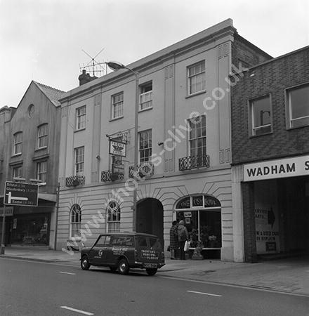 Phoenix Hotel, 52 East Street, Taunton, Somerset around 1973-4.