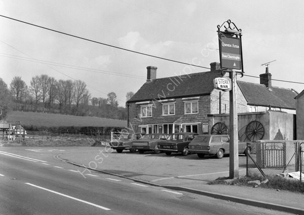 Queens Arms Wraxall, on A37 Shepton Mallett BA4 6RQ in about 1973