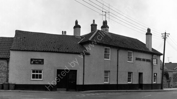 Royal Oak Hotel, Somerton TA11 6NA around 1974.