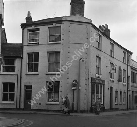 Turks Head Pub, James Street, Taunton, Somerset around 1973-4
