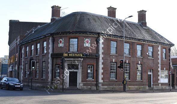 Westgate Hotel pub in 2019 Central Cardiff, now closed.