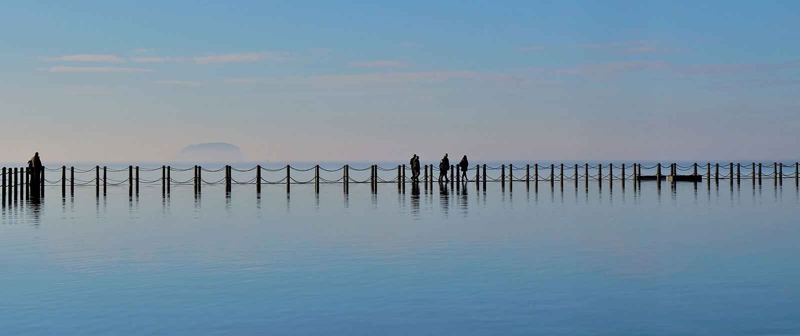 Colour Highly Commended: Silhouettes on the Causeway by Sheila Kibble