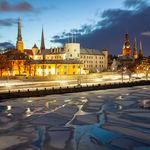 Daugava frozen