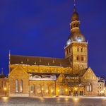 Dusk at Riga Cathedral