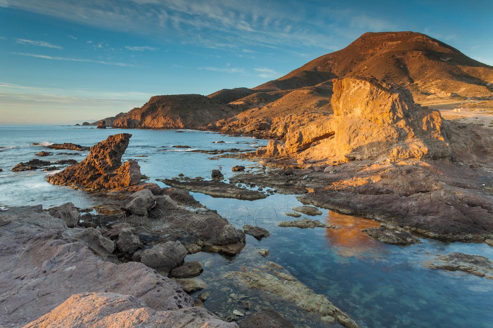 Morning at Playa del Arco in Cabo de Gata Natural Park