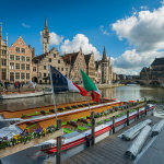 Spring in Ghent Old Town