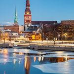 Winter Dawn in Riga