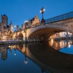 St Michael's Bridge at dusk