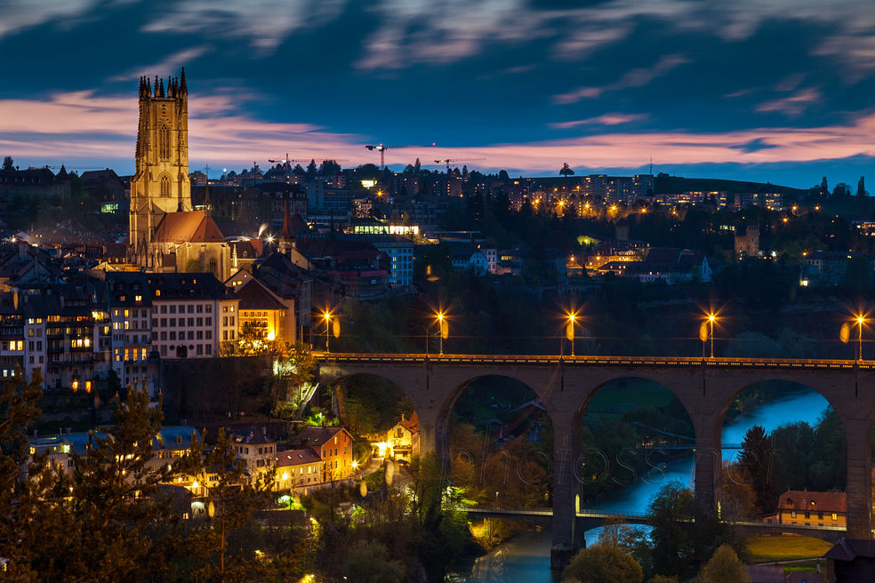 Evening in Fribourg