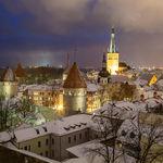 Tallinn old town panorama