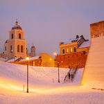 Bastion of the city walls in Vilnius