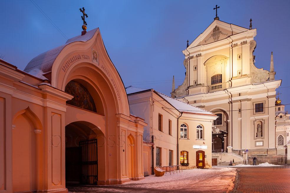 Baroque church in Vilnius