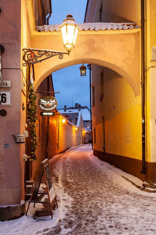 Narrow Street in Vilinius old town