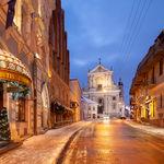Winter Dawn in Vilnius
