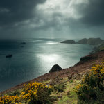 Stormy skies over Lundy