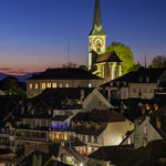 Night falls in Burgsdorf