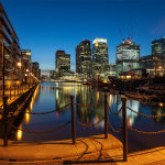 Dusk at Canary Wharf