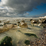 Rough sea at Birling Gap on the Sussex coast